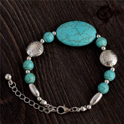 Handmade Turquoise Beads Bracelet Style 12