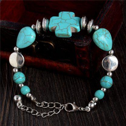 Handmade Turquoise Beads Bracelet Style 14