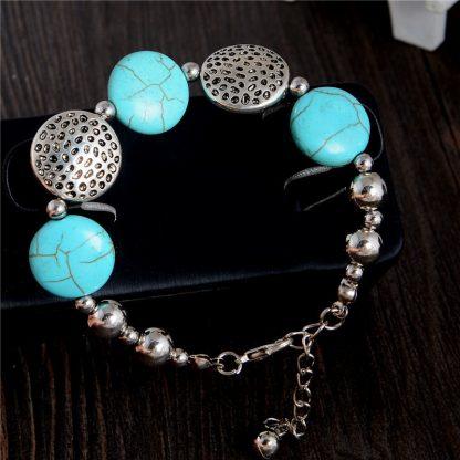 Handmade Turquoise Beads Bracelet Style 15