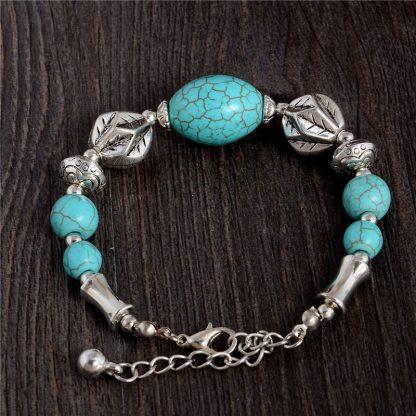 Handmade Turquoise Beads Bracelet Style 17
