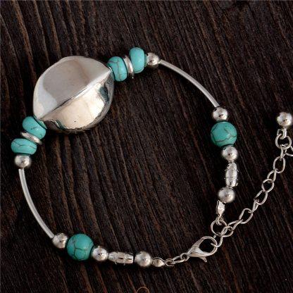 Handmade Turquoise Beads Bracelet Style 19