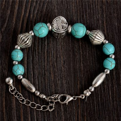 Handmade Turquoise Beads Bracelet Style 21