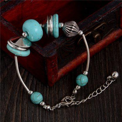 Handmade Turquoise Beads Bracelet Style 24