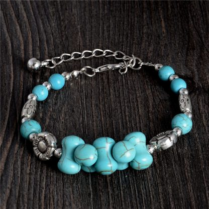 Handmade Turquoise Beads Bracelet Style 26