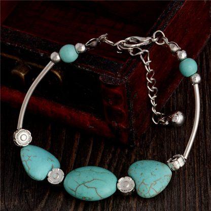 Handmade Turquoise Beads Bracelet Style 28