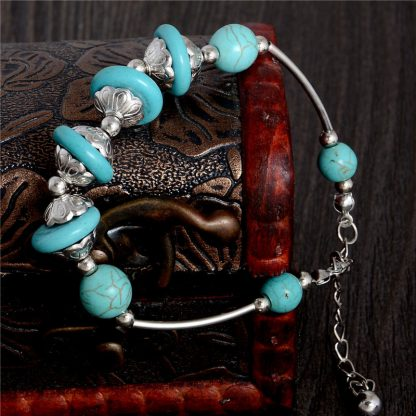 Handmade Turquoise Beads Bracelet Style 30