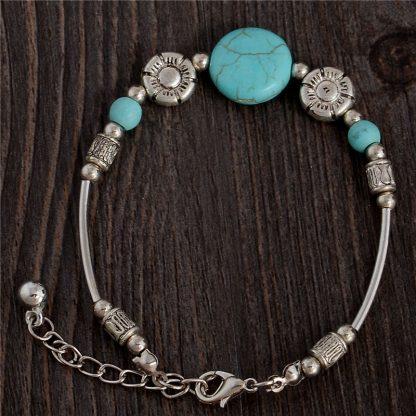 Handmade Turquoise Beads Bracelet Style 31