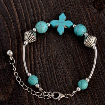Handmade Turquoise Beads Bracelet Style 32