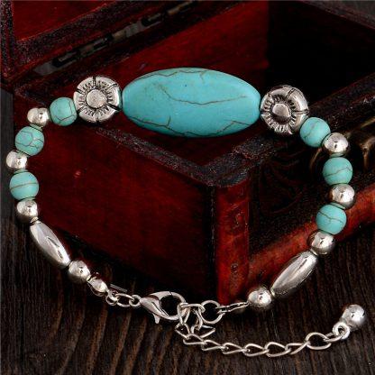 Handmade Turquoise Beads Bracelet Style 36