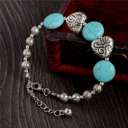 Handmade Turquoise Beads Bracelet Style 38
