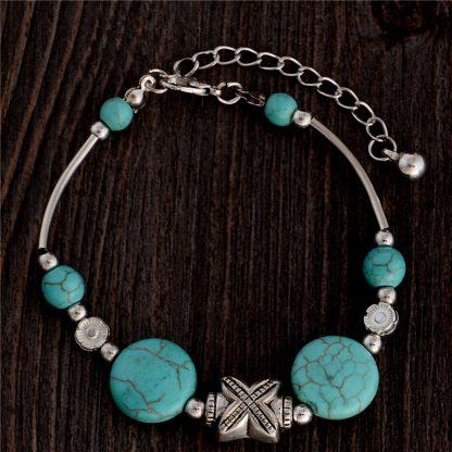 Handmade Turquoise Beads Bracelet Style 41