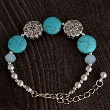 Handmade Turquoise Beads Bracelet Style 42