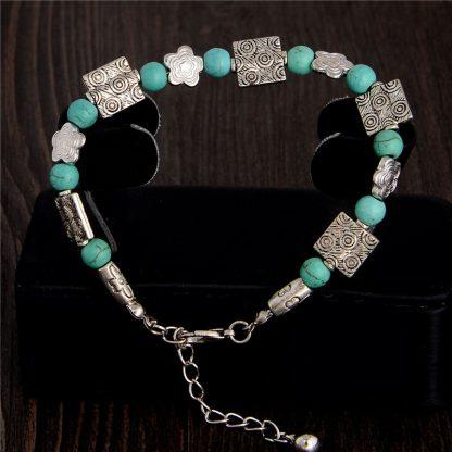 Handmade Turquoise Beads Bracelet Style 43