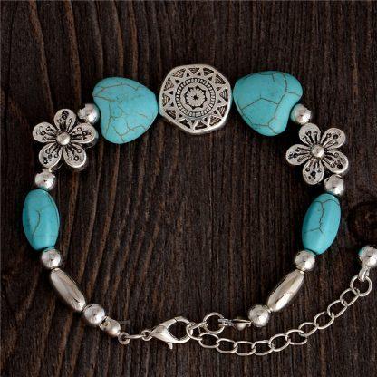 Handmade Turquoise Beads Bracelet Style 5