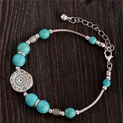 Handmade Turquoise Beads Bracelet Style 8