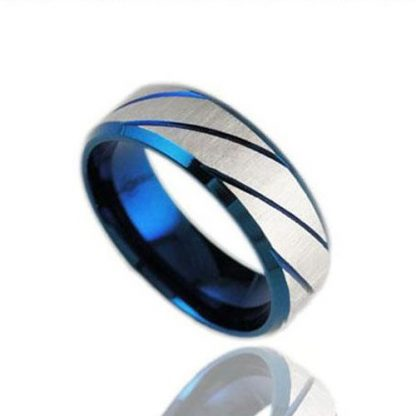 Fabulous Traditional Silvery Striped Metal Ring Men Fashion Jewlery