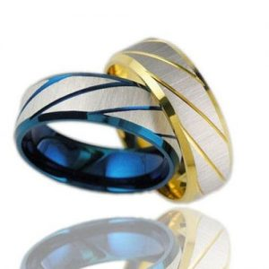 Fabulous Traditional Silvery Striped Metal Ring Men Fashion Jewelry