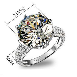 Beautiful Sparkling Cubic Zirconia Ring Women Fashion Jewelry