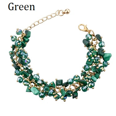 Luxury Multi Color Crystal Rhinestone Bracelet Women fashion Jewelry