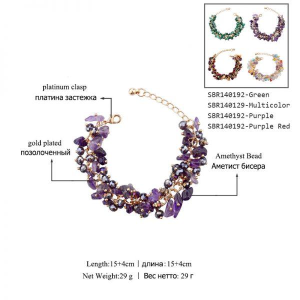 Luxury Multi Color Crystal Rhinestone Bracelet Women fashion Jewelry