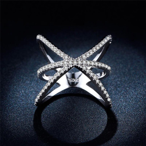 Magnificient Cubic Zirconia Ring Women Fashion Jewelry