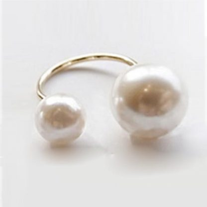 amazing-double-pearls-adjustable-women-fashion-ring-golden-silvery